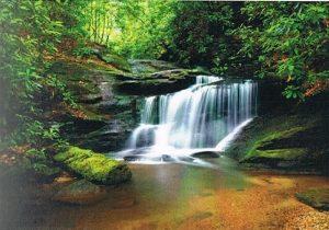 Fotomural con paisaje de cascada