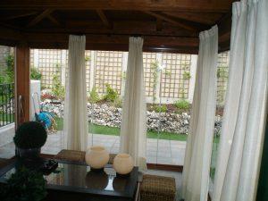 Visillos para un cerramiento de terraza