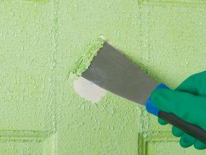 Es f cil quitar gotel y pintar en liso - Quitar pintura de pared ...