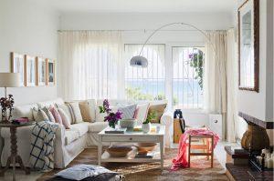 Cortinas de lino en estilo mediterráneo