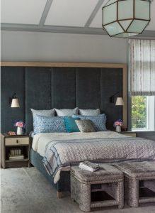 Cabecero tapizado con marco de madera