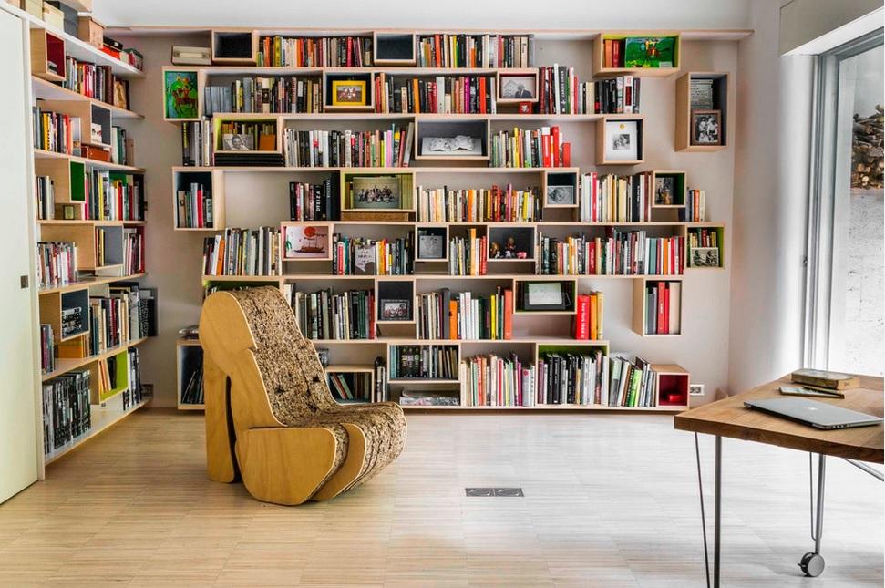 Librer as a medida para aprovechar el espacio a tope - Librerias estanterias modernas ...