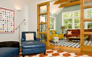Combinar alfombras de estampado geométrico