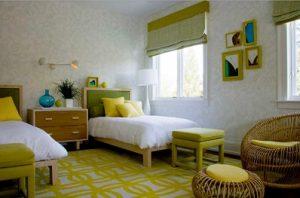 Alfombras dormitorio dos camas