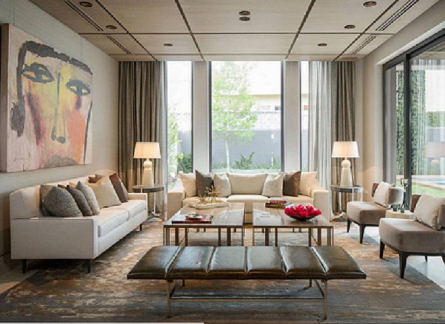 Cortinas para techos altos entrecolores - Decoracion salones cortinas ...