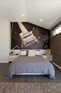 Mural para habitacion con guitarra electrica