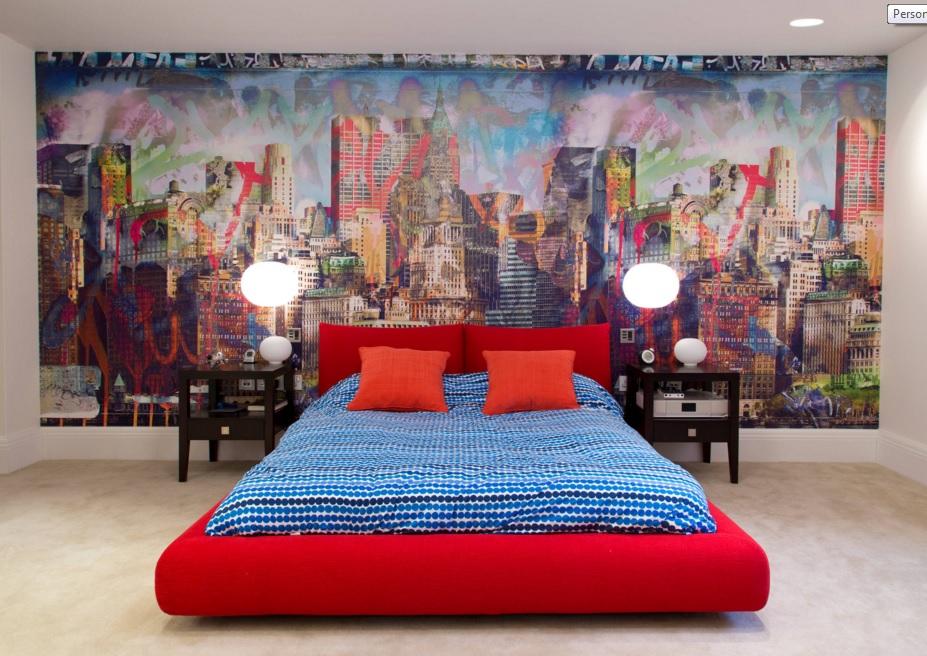 C mo decorar habitaciones con papel pintado - Papel pintado moderno ...