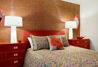 C mo decorar habitaciones con papel pintado - Papel pintado con textura ...