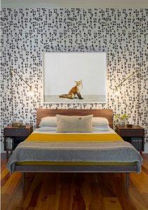 Papel pintado dormitorio principal
