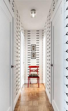 c mo decorar el pasillo con papel pintado