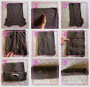 Cómo doblar la ropa para guardarla