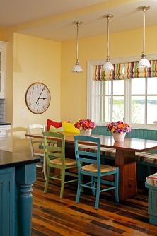 vestir ventanas de cocina con estores plegables