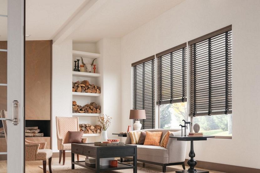 Persianas venecianas de madera regula la luz con mucho estilo - Cortinas venecianas de madera ...