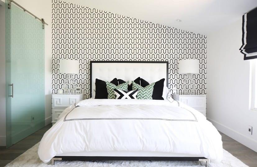 Papeles pintados en blanco y negro para dormitorios