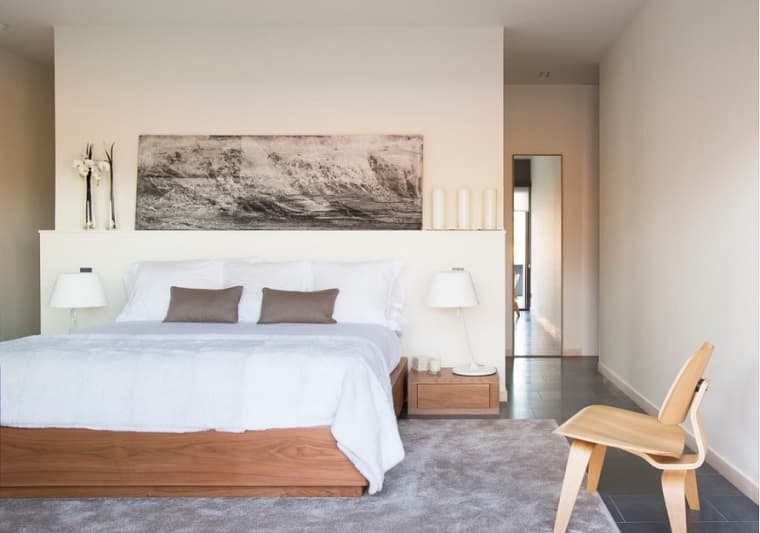 Alfombra dormitorio efecto seda