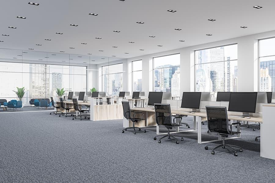 Moqueta oficina gris