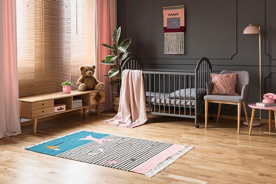 Cortina rosa habitacion infantil